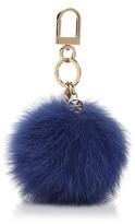 Tory Burch Fox Fur Pom Pom Key Fob