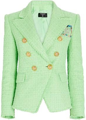 Balmain Tweed Double-Breasted Blazer
