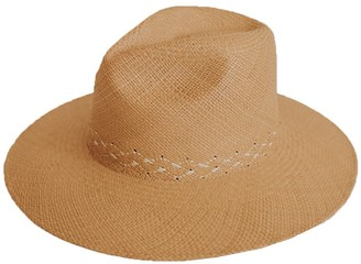 The Freya Brand Hibiscus Woven Panama Hat