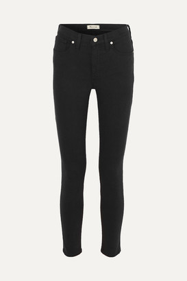Madewell Cropped High-rise Skinny Jeans - Black