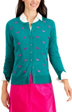 Charter Club Petite Scottie Button Sweater, Created for Macy's