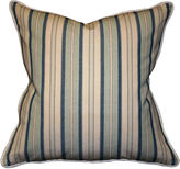 Barclay Butera Dover Striped 22x22 Cotton Pillow, Navy