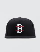 Black Scale B Logo Red Line Snapback Cap