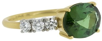 Irene Neuwirth 18kt Yellow And White Gold, Green Tourmaline And Diamond Ring