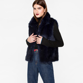 Paul Smith Women's Navy Faux-Fur Gilet
