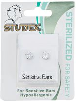 Studex Stainless Steel Cubic Zirconia 4mm Earrings