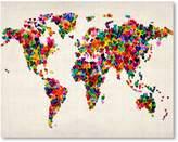 Americanflat World Map Heart Print Art, Print Only