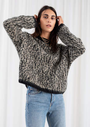 And other stories Leopard Knit Sweater