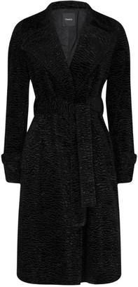 Theory Faux Fur Wrap Coat