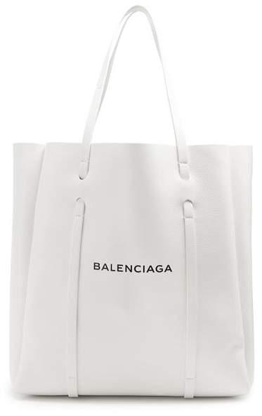 Balenciaga Everyday Tote M - Womens - White Black
