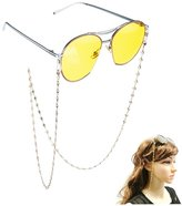 Kalevel 14K Gold Plated Eyeglass Chain Strap Eyeglass Chains and Cords for Women