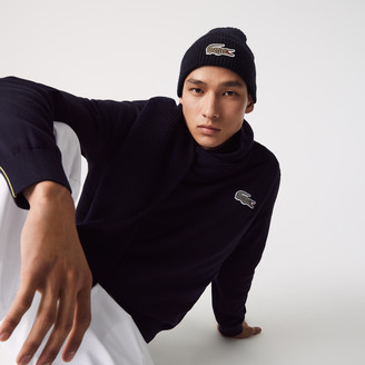 Lacoste Mens x National Geographic Ribbed Wool Beanie