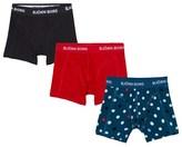 Bjorn Borg Pack of 3 Spot, Red and Black Branded Trunks
