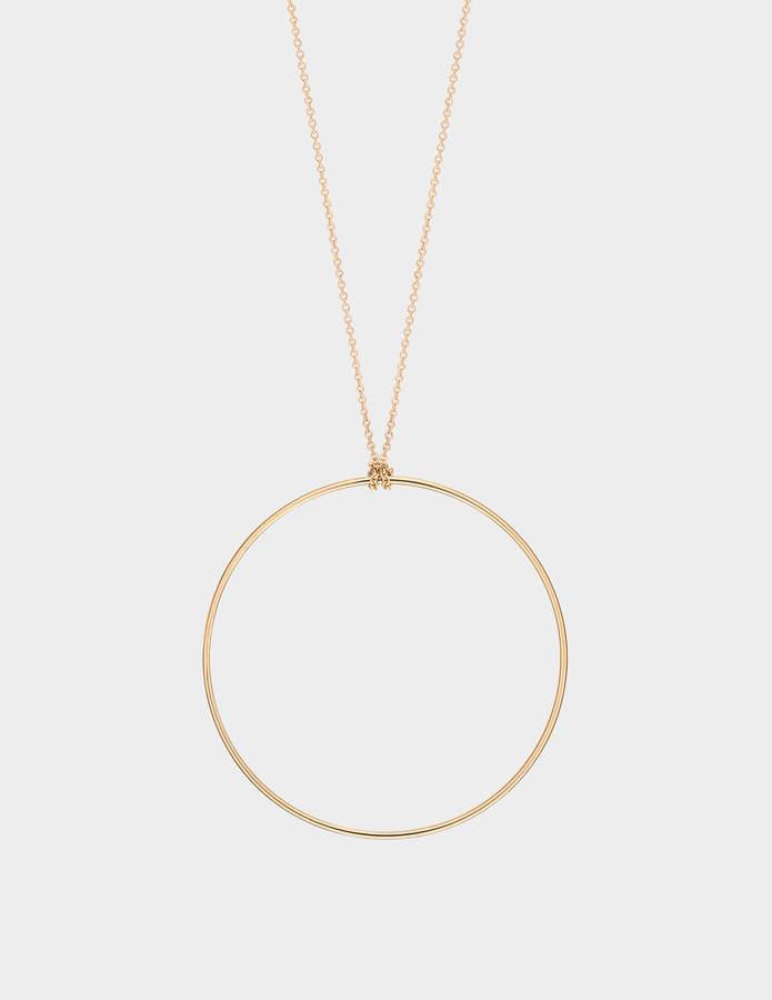 ginette_ny Circle 18-karat rose gold necklace
