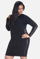 Fashion to Figure Palace Lattice Sleeve Bodycon Dress