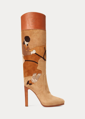 Ralph Lauren Renise Lambskin-Calfskin Boot