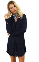 Rails Sawyer Button Down Dress in Navy/Midnight