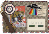 Gucci Tan Vibrant Vintage Gg Supreme Pouch