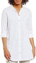 Eileen Fisher Jersey Mandarin Collar Tunic