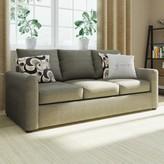 "Martin House 81"" Square Arm Sofa Bed Red Barrel Studio Upholstery: Flyer Metal / Euphoria"