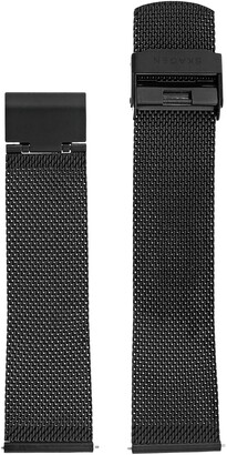 Skagen 22mm Stainless Steel Mesh Watch Strap Color: Black (Model: SKB6068)