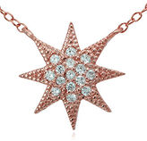 Lord & Taylor Rose Goldtone Sterling Silver and Cubic Zirconia Starburst Pendant Necklace