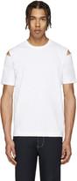 Comme des Garcons White Slits T-Shirt