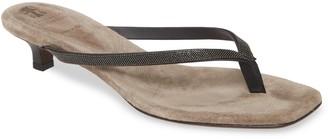 Brunello Cucinelli Embellished Thong Sandal