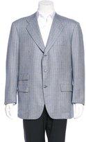 Kiton Cashmere Plaid Sport Coat