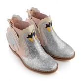 Stella McCartney KidsGirls Silver Glitter Swan Lily Boots