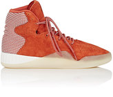 adidas Men's Tubular Instinct Suede & Knit Sneakers-ORANGE, WHITE, RED