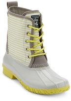 G.H. Bass Daisy Striped Duck Boots