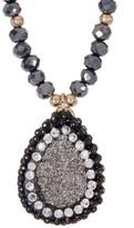 Panacea Luxe Beaded Teardrop Pendant Necklace