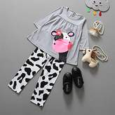 Hittime TR.OD Girl Cow Printed Pants Children's Clothes Cotton Baby Clothes