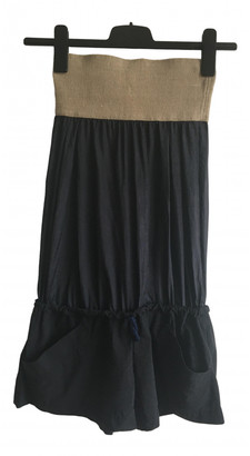 Bless Navy Silk Jumpsuits