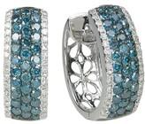 Effy Jewelry Effy Bella Bleu 14K White Gold Blue and White Diamond Earrings, 1.30 TCW