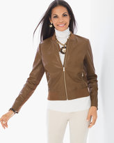Chico's Faux-Leather Bomber Jacket