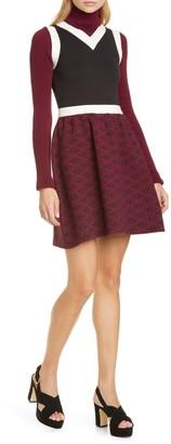 Tommy Hilfiger Tommy x Zendaya Monogram Layered Long Sleeve Sweater Dress