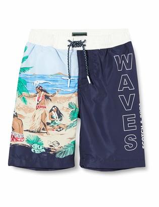 Scotch & Soda Boy's Boardshorts with Placed Print Swim Shorts