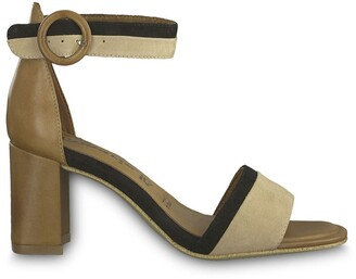 Tamaris Dalina Leather Heeled Sandals with Ankle Strap