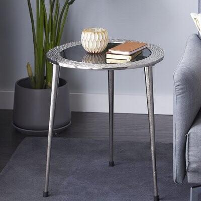 Dakota Fields Glass Top Block End Table Shopstyle