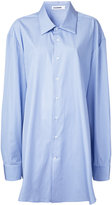 Jil Sander oversized striped shirt - women - Cotton - One Size