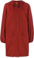 Marni classic zip-up coat - women - Cotton/Nylon - 38