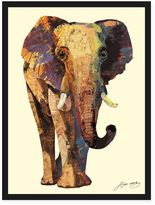 Alex Elephant Framed Collage Wall Art by Zeng