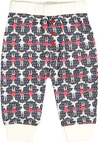 Baby Nay Black & Red Moose Friends Sweatpants - Infant