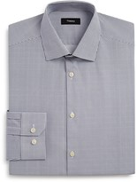Theory Gridwork Print Regular Fit Dress Shirt