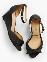 Talbots Vivian Bow Ankle-Strap Wedges