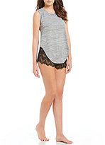 Sam Edelman Knit Tank & Lace Short Pajamas