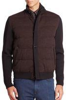 Ermenegildo Zegna Wool Herringbone Down Puffer Jacket