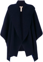 Burberry ribbed cape - women - Polyamide/Cashmere/Wool - One Size